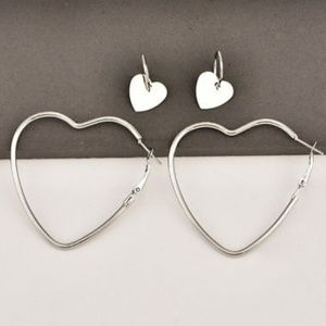 Jewelry - Heart Hoop Earrings